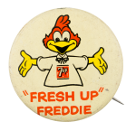 7up Fresh Up Freddie Advertising Button Museum