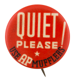 AP Mufflers Advertising Button Museum