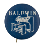 Baldwin Piano Advertising Button Museum