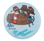 The California Raisins Hot Tub Advertising Button Museum