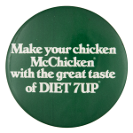 Diet 7Up Advertising Button Museum