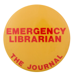 Emergency Librarian Advertising Button Museum