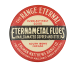 Eternametal Floes Advertising Button Museum