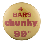 Four Bars Chunky Advertising Button Museum