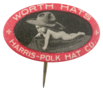 Harris-Polk Hat Company Advertising Button Museum