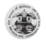House of Guitars Advertising Button Museum