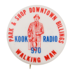 Kook Radio Advertising Button Museum