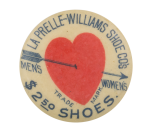 La Prelle-Williams Shoe Company Advertising Button Museum