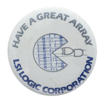 LSI Logic Corporation Advertising Button Back