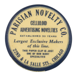 Parisian Novelty Co. Advertising Button Museum