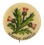 Pepsin Gum Company Scotch Thistle Advertising Button Museum