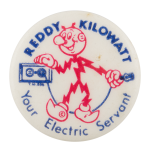 Reddy Kilowatt Electric Servant Advertising Button Museum