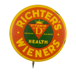 Richter's Wieners Advertising Button Museum