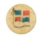 San Domingo Flag Advertising Button Museum