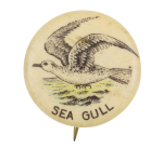 Sea Gull Advertising Button Museum