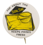 Seal Sac Advertising Button Museum
