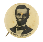 State Journal Newspaper Advertising Button Museum