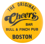 The Original Cheers Bar Advertising Button Museum
