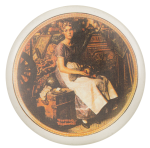 Dreaming in the Attic Normal Rockwell Art Button Museum