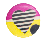 Abstract Art with Heart Art Button Museum