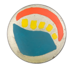 Blue Yellow Red Abstract Art Button Museum