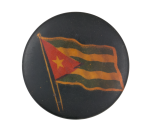 Cuba Flag Dark Blue Art Button Museum