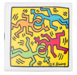 Keith Haring Dancing Figures Art Button Museum
