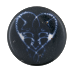 Glowing Heart Art Button Museum