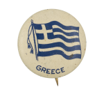 Greece Flag Art Button Museum