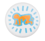 Keith Haring Figure Art Button Museum