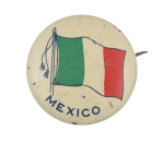 Mexico Flag Tassels Art Button Museum
