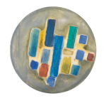 Painted and Embossed Rectangles Art Button Museum