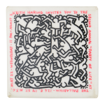 Keith Haring Party Of Life Art Button Museum