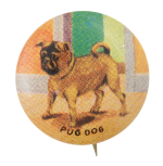 Pug Dog Art Button Museum