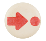 Red Arrow and Dot Art Button Museum