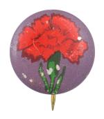 Red Flower Art Button Museum