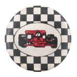 Red Race Car Art Button Museum