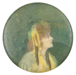 Woman With Hat Art Button Museum