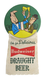 Budweiser Draught Beer Beer Button Museum