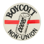 Boycott Coors Beer Button Museum