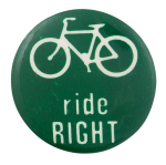 Bicycle Ride Right Cause Button Museum