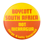 Boycott South Africa Cause Button Museum