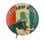 Clean-Up Week Cause Button Museum