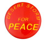Desert Storm for Peace Cause Button Museum