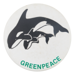 Greenpeace Orca Cause Button Museum