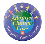 Support Your Library Brodart Cause Button Museum