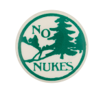 No Nukes Forest Cause Button Museum