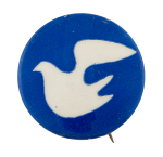 Peace Dove dark blue Cause Button Museum