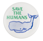 Save the Humans Cause Button Museum