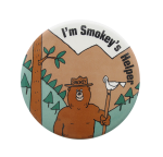 Smokey's Helper Cause Button Museum
